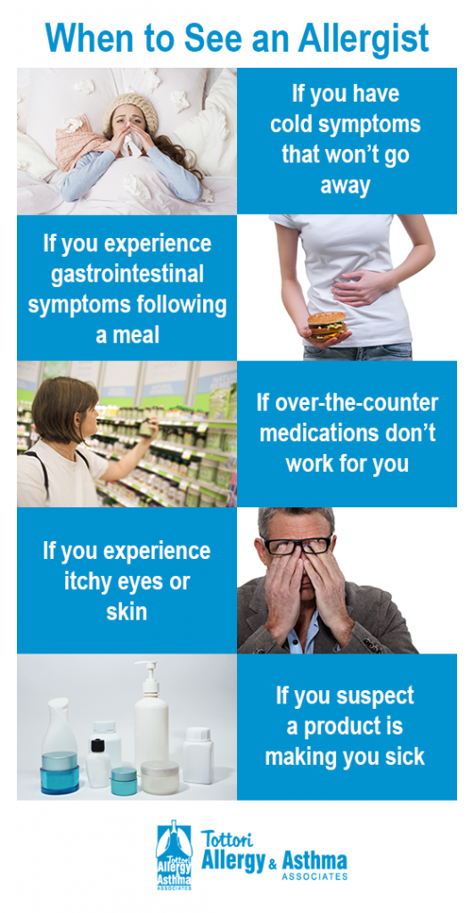 Tottori Allergy - When to See an Allergist