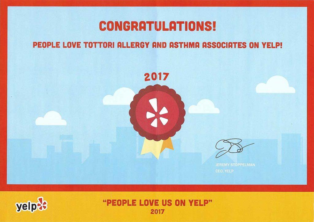 Tottori Allergy - Best of Yelp 2017
