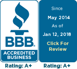 2018 Better Business Bureau A+ Rated Company