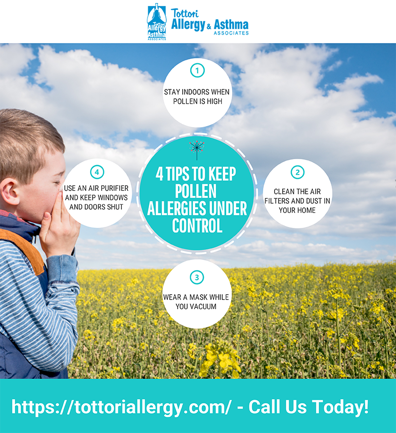 Tottori Allergy and Asthma - 4 Tips To Keep Pollen Allergies Under Control