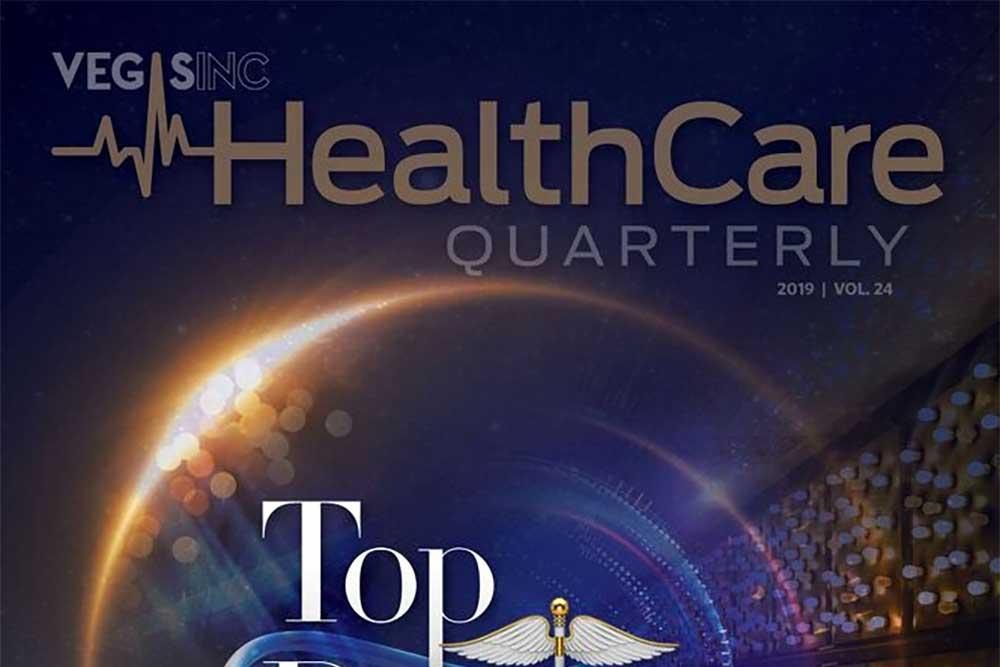 healthcare quarterly magazine featurning david tottori