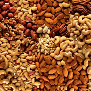 a variety of nuts that are off limits for someone allergy testing with a nut allergy