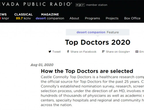 IN THE NEWS: Dr. Tottori Named One of Top Doctors in Southern Nevada