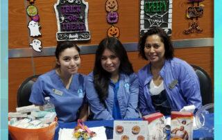las vegas allergist tottori team at Halloween booth