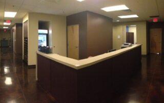 interior of las vegas allergy doctor office reception station