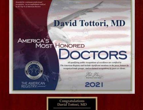 "Congratulations to Dr. Tottori on receiving ""Top Doctors"" 2021"